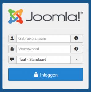 Hoe kan ik inloggen in Joomla
