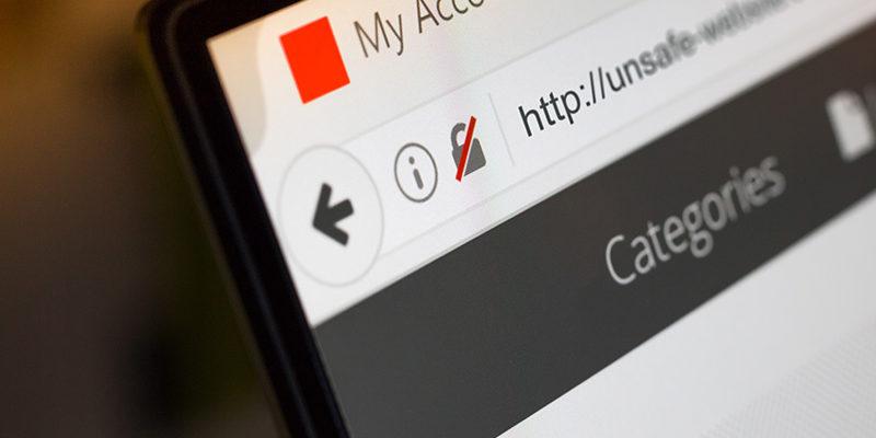 Websites zonder SSL Beveiligingscertificaat